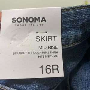 Sonoma Skirts - NWT Womens Size 16 Sonoma Classic Blue Jean Skirt